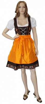 Dirndl 3er Set Midi Orange  art.34010762